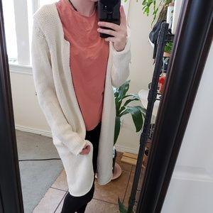 Cozy white cardigan
